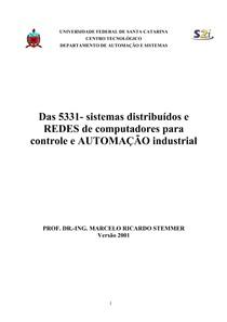 Sistemas Distribuídos E Redes De Computadores Para Controle E Automação Industrial