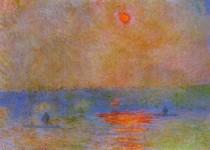 Waterloo Bridge Sunlight In The Fog-Claude Monet