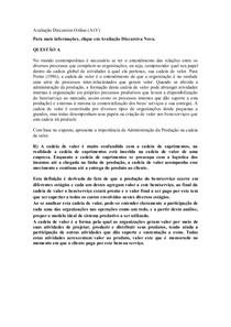 Avaliação Discursiva Online   Administração da Produção