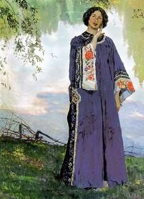 Mikhail Nesterov - Portrait of E. P. Nesterov