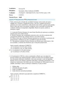 Avaliação II - Sociedade e Meio Ambiente - Nota 10,00 - Uniasselvi