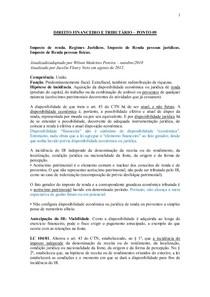 DIREITO FINANCEIRO E TRIBUTÁRIO – PONTO 09