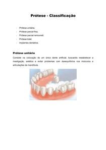 Prótese - Classificação