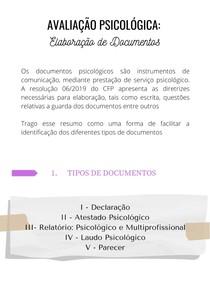 Avaliação Psicológica: Elaboração de Documentos