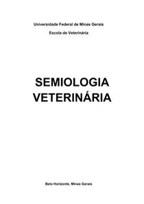 Semiologia Veterinária, EV   UFMG, 2015