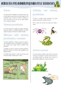 Acidentes por animais poçonhentos e venenosos