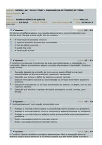 FUNDAMENTOS DE COMÉRCIO EXTERIOR - AV1