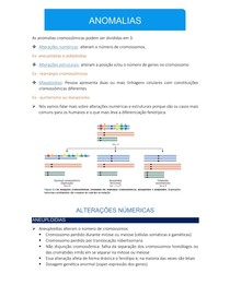 Genética - Anomalias Cromossômicas