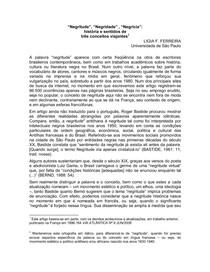 ArtigoLigiaFerreira1Negritude