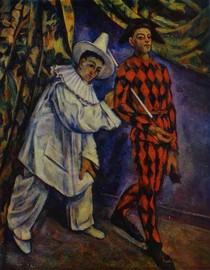 Paul Paul Cézanne - Pierrot and Harlequin