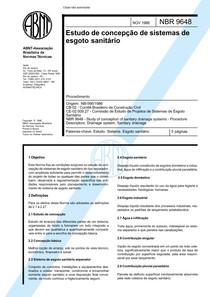 NBR-9648 - Estudos de Concepção de Sistemas de Esgoto Sanitá