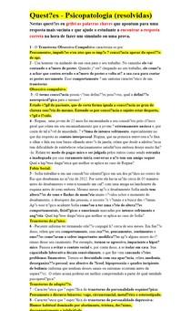 Questões - Psicopatologia (resolvidas)
