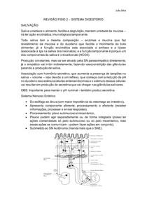 Revisão Fisiologia - Sistema Digestório