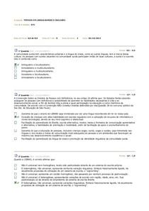 AV 1 Prova - Libras