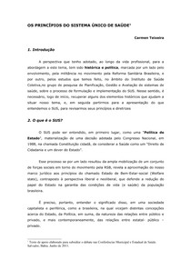 OS PRINCIPIOS DO SUS(1)