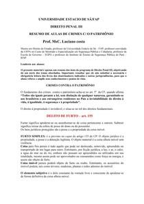 DIREITO PENAL III - Arts. 155 ao 234 COMENTADO