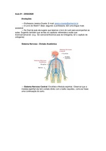 Aula 1 - Sistema Nervoso