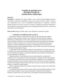 Reparo Tecidual - Patologia Geral
