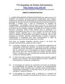 Dir Administrativo - 172 Exercicios