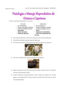 Fisiologia e Manejo Reprodutivo de Ovinos e Caprinos