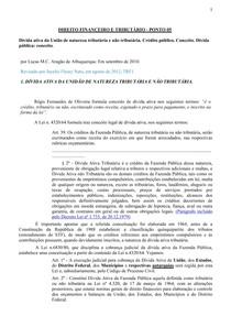 DIREITO FINANCEIRO E TRIBUTÁRIO - PONTO 05