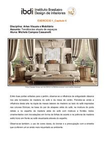 Artes Visuais e Mobiliário Exercício 1 cap5  IBDI