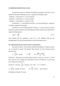 10. Dimensionamento de Canais