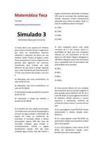 Matemática para Concursos SIMULADO 3 #EXCLUSIVOPD