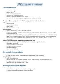 PPR associada a Implantes