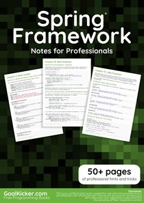 Spring Framework Notes For Professionals - Javascript - 12