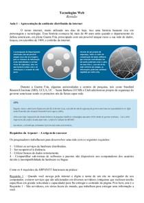 Revisão Tecnologias Web por Paloma Garcia