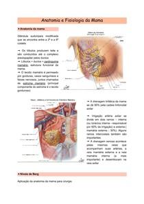 Anatomia e Fisiologia da Mama