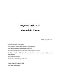 Documento PF I e II Terezinha 2012.2