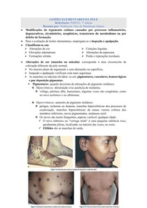 Lesões Elementares da Pele - Exame Físico da Pele e Fâneros
