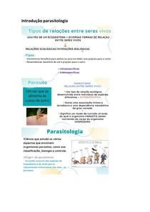 Introdução parasitologia