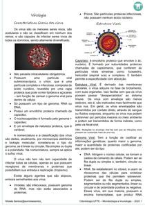 RESUMO MICROIMUNO - VIROLOGIA (CARAC GERAIS DOS VIRUS E MECANISMOS DE AÇÃO PATOGENICA DOS VIRUS)