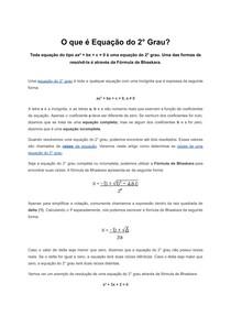 O que é Equação do 2° Grau