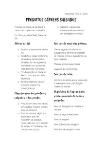 RESUMO PRODUTOS CÁRNEOS SALGADOS E TECNOLOGIA DE PESCADO