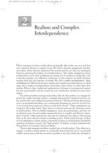KEOHANE, NYE - Power and Interdependence, Cap II