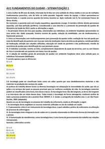 AV1 FUNDAMENTOS DO CUIDAR SITEMATIZAÇÃO 1