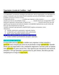 Negociação e Gestão de Conflitos  - Aap2 [OK]