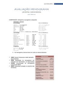 AVALIAÇÃO HEMOGRAMA