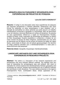 4 - Arqueolo da Paisagem e Geoarqueologia