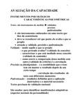 AVALIAÇÃO DA CAPACIDADE. II