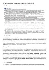 TRANSTORNOS RELACIONADOS AO USO DE SUBSTÂNCIAS
