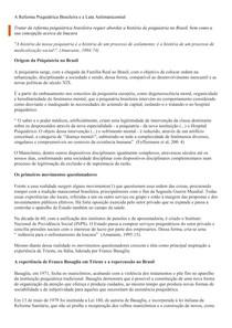 A Reforma Psiquiátrica Brasileira e a Luta Antimanicomial
