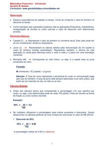 Matematica Financeira - Introdução