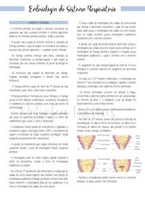 Embriologia do Sistema Respiratório