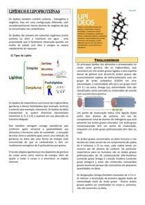 Lipídeos e Lipoproteínas