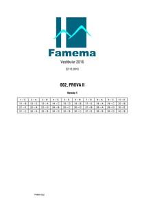 PROVA FAMEMA 2016 - Faculdade de Medicina de Marília